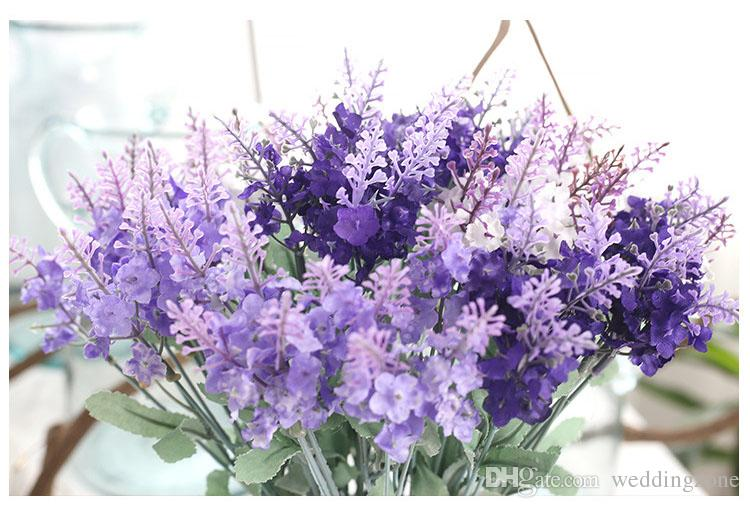 10Heads Artificial Lavender Bouquets 3 Colors Foam Flower For Wedding Decoration Home Decoration Weddingzone Provided: MW02611
