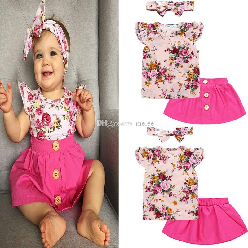 US Kid Baby Girl Clothes Party Sunflower Ruffle Dress Princess Floral Skirt 0-4Y