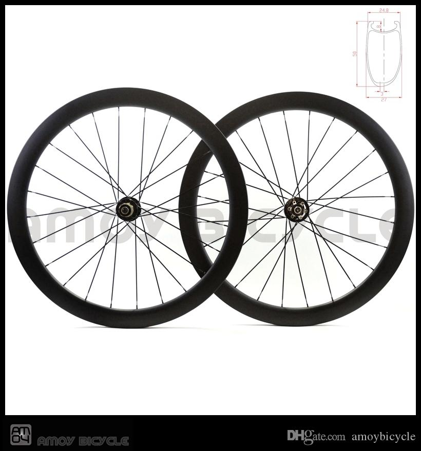 Hot sales 700C 50mm clincher matte black finish full toray T700 fiber wheelset carbon disc brake road wheels
