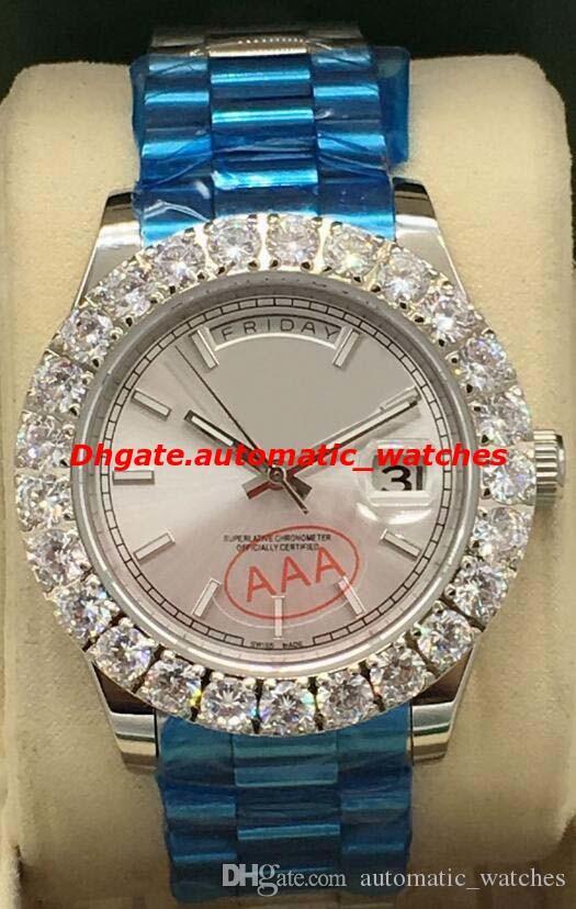 Nouveau Style Montres De Luxe 2 Style 41mm Hommes Or Blanc 18k Bigger DIAMOND Automatique Montre De Mode Montre-Bracelet