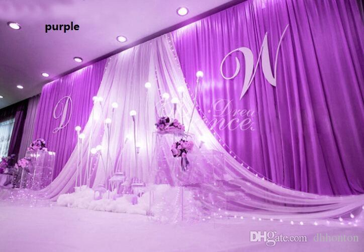 3*6m Wedding Party Stage Celebration Background Satin Curtain Drape Pillar Ceiling Backdrop Marriage decoration Veil WT079