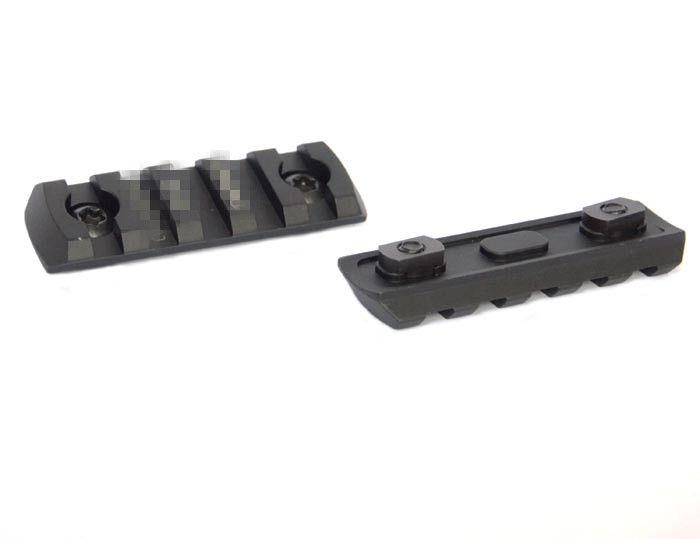 5 ranuras CNC Aluminio Picatinny Rail Sección Fit M-lok tipo esquina riel biselado con M-LOk Envío gratis
