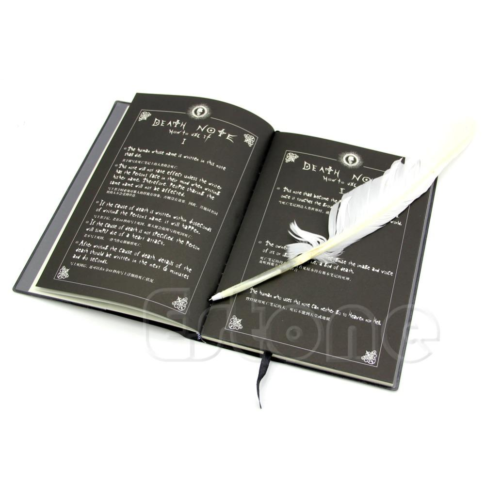 New-Fashion Anime Theme Death Note Cosplay Notebook New School Large Writing Journal 20.5cm*14.5cm OOTDTY