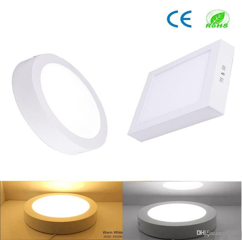 CE Dim LED Panel Işık 9 W 15 W 21 W Yuvarlak / Kare Yüzey Monte LED Downlight Aydınlatma LED Tavan Işıkları Spotlight 110-240V + Sürücüler