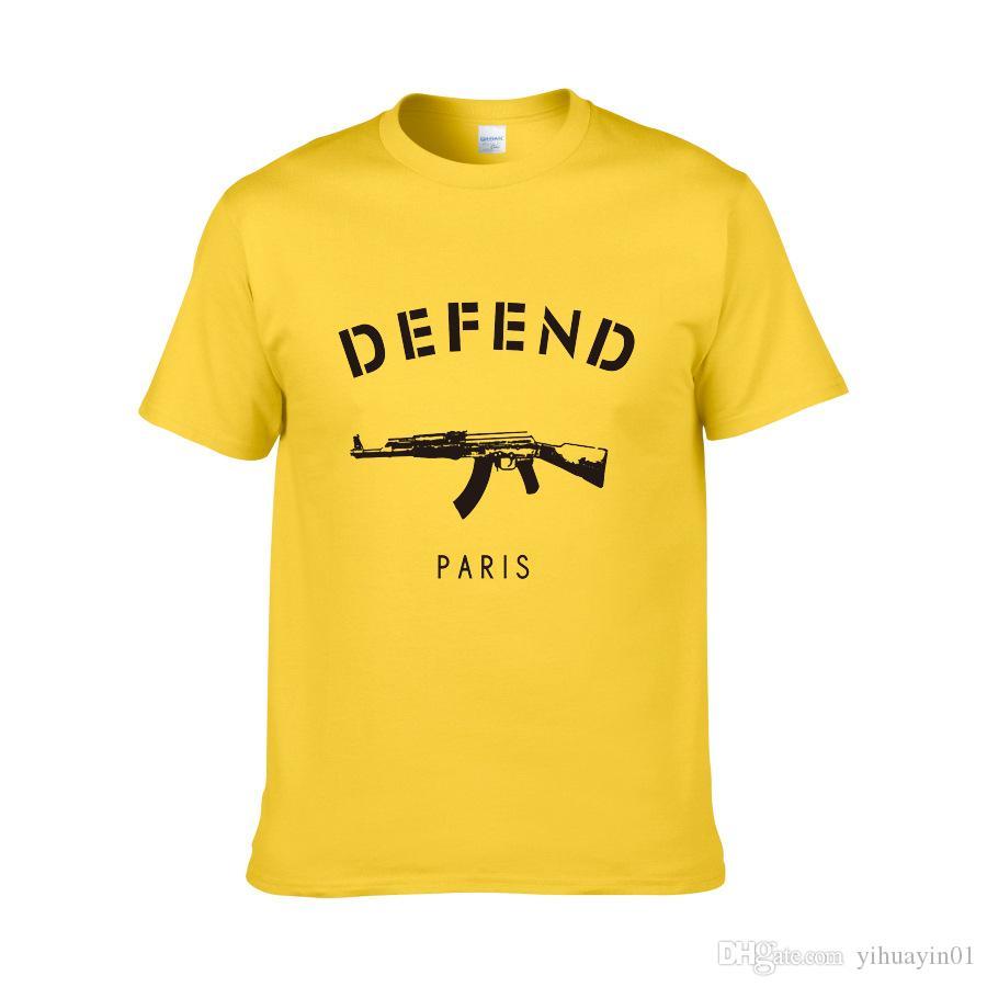 Nouvelle arrivée DÉFENDRE PARIS T-shirt Hiphop Defend T-shirt Tshirt à manches courtes T-shirts Vêtements pour hommes hommes T-shirts Hauts W-1