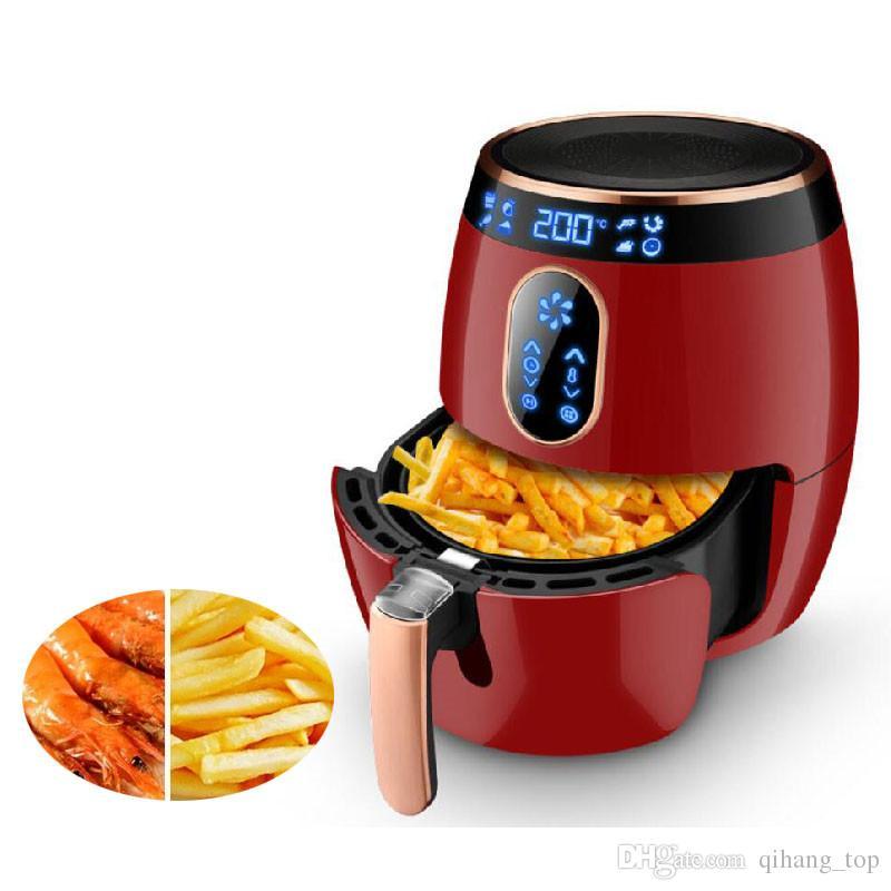 Qihang_top 2.6L Air Fryer Machine Home LCD Touch Screen Electric Deep Air Fryer No Oil Potato Chips Frying Machine