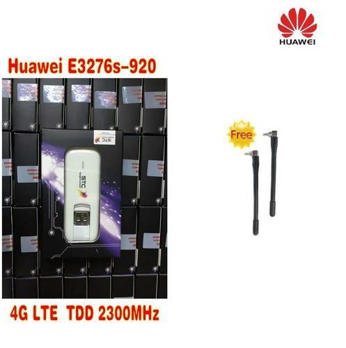 Desbloqueado Huawei E3276S-920 E3276 4 G LTE Modem 150 Mbps WCDMA TDD Rede Sem Fio Dongle USB mais 2 pcs 4g antena