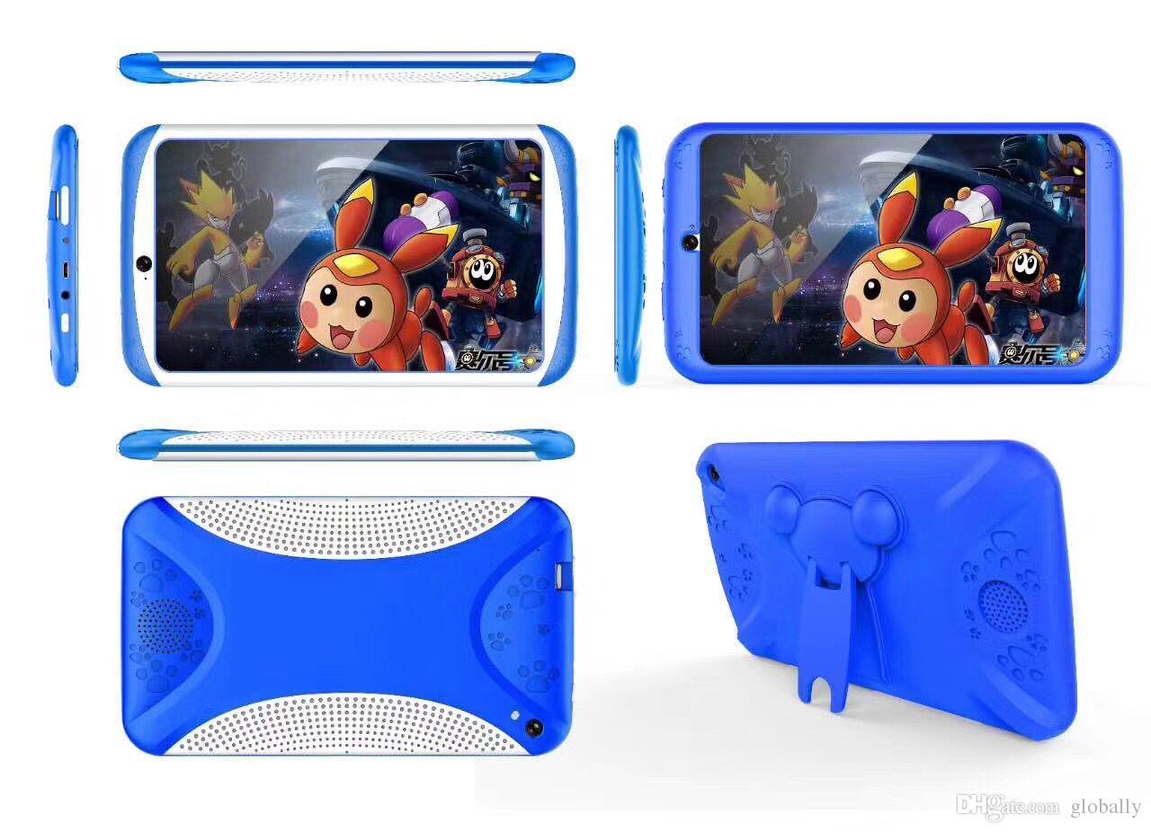 Ein gutes Geburtstags-Weihnachtsgeschenk! 7 Zoll Kinder Tablet PC Quad Core Android Tablet 8 GB 1024x600 Bildschirm Kinder Bildung Spiele