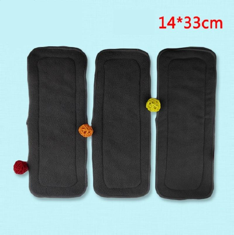 5pcs/lot 4 Layers Bamboo Charcoal Baby Cloth Nappy Inserts Reusable Washable Diapers Nappy Changing KF005-1