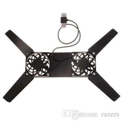 Mini USB Dizüstü PC Katlanır Soğutma Pedi 2 adet Soğutma Fanları Dizüstü Tutucu Laptop Aksesuarları marka yeni ve yüksek kalite