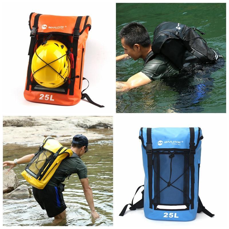 Rafting 25L À Prova D 'Água Mochila Saco Seco Grande Capacidade Zip Daypack Viagem Ao Ar Livre Camping Drifting Caiaque Bolso DDA727 Sacos de Fraldas