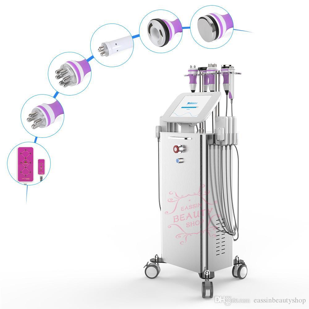 6 In1 Ультразвуковая кавитация Радиочастотная для похудения Лазерная машина Вакуумная Потеря веса RF CE Многофункциональное оборудование