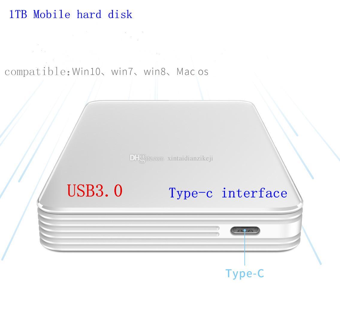 H1 Disque dur 1 To USB3.0 Interface de type C 2.5pin 1 To Disque dur portable Disque dur portable Stockage à haute vitesse de transmission