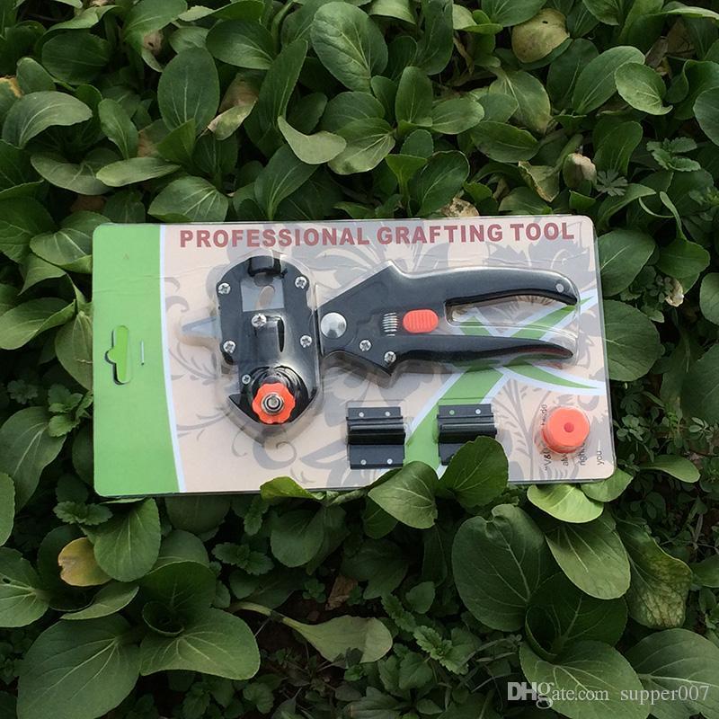 Pfropfmaschine Gartengeräte mit 2 Klingen Baumpfropfwerkzeuge Gartenschere Schere Schneidpflaume