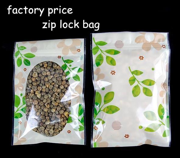 Sacos de fecho zip colorido com selo de calor zip sacos de plástico OPP PP sacos de PVC Embalagem poli ervas chá de alimentos biscoitos drop shipping personalizado