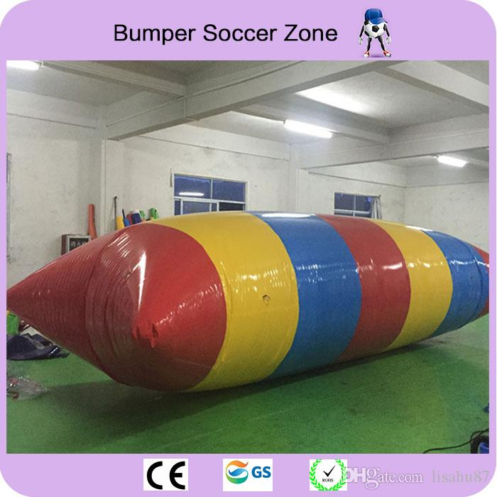 Free Shipping 10x3m 0.9mm PVC Tarpaulin Inflatable Water Blob Inflatable Jumping Pillow Water Jump Blob Come With a Pump