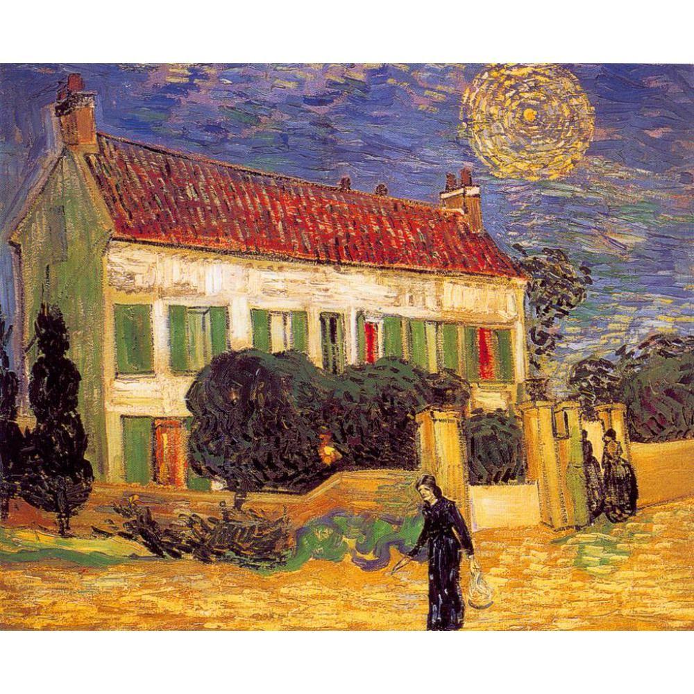 Vincent Van Gogh peinture à l'huile White House at Night toile Reproduction de haute qualité peinte à la main