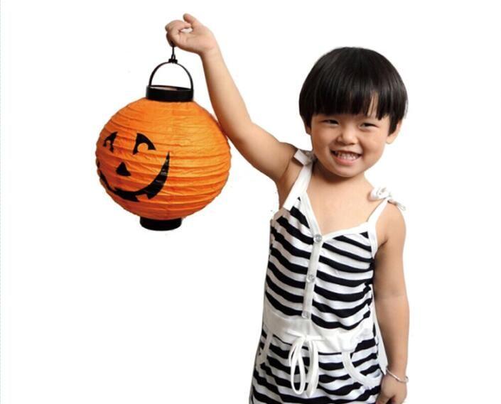 Хэллоуин тыква фонарь светящаяся бумага Хэллоуин поставки