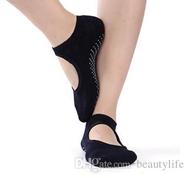 المرأة اليوغا قبضة الجوارب بري بيلاتيس الباليه الرقص الجوارب غير زلة التزلج القطن الكاحل الرياضة تو أحذية واحد حجم 5-10 12pair