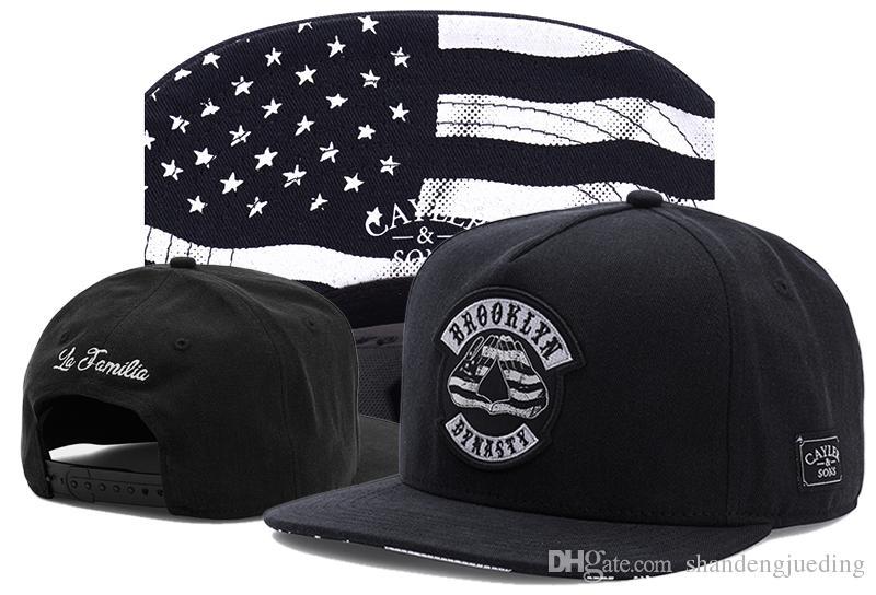 New Cayler & Sons baseball caps Brooklyn Embroidery hats Flat Visor Bill Stripes Snapback adjustable Hat Fashion Hip Hop Cap
