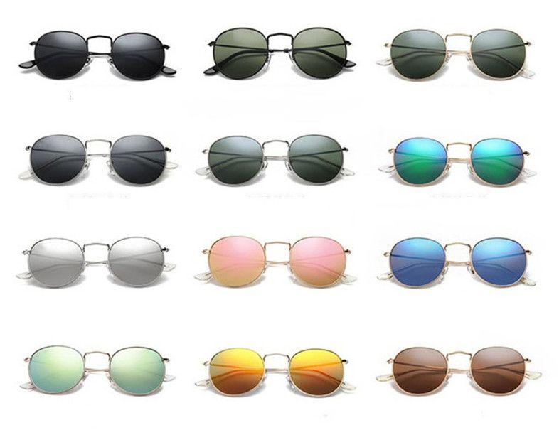 Classique Lunettes de soleil rondes pour le soleil femmes hommes lunettes lunettes unisexe Homme Oculos 25 couleurs au choix