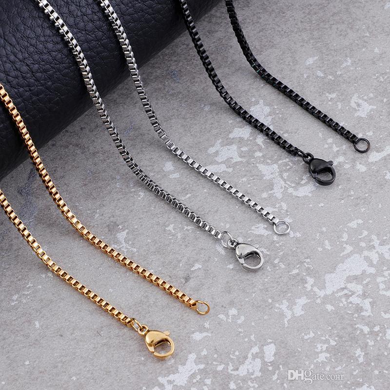 """24/"""" Wholesale 925 Sterling Argent Massif Plaqué Boîte 2 mm chaîne Collier 16/"""""""
