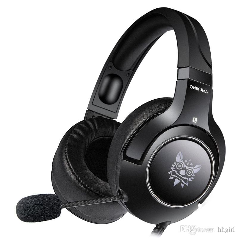 K9 wired headset computer game headset line control wheat belt rear mobile phone PS4 headset inline USB game earphones with RGB lights