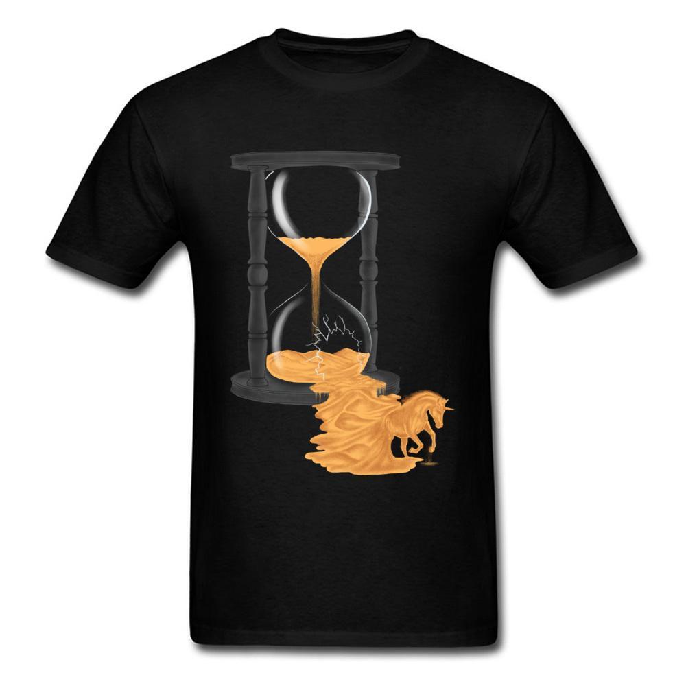 Hourglass Reborn T-shirt Unicorn T Shirt Men Printed Tees Cotton Tops Black Tshirt Summer Sweatshirts Husband Gift Clothes