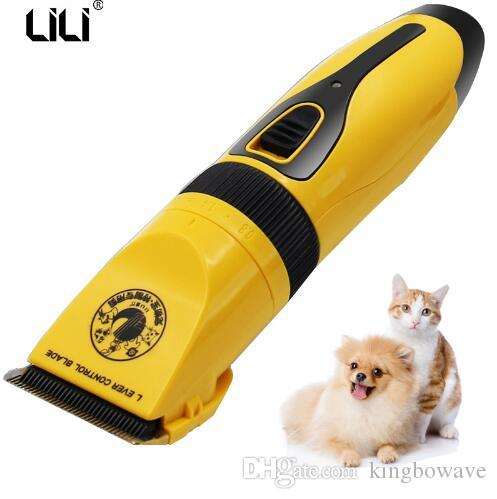 Professional Rechargeable Pet Cat Dog Hair Trimmer Electrical Pet Grooming Clippers Animal Shaver Cutting Machine + Comb Toolbox ZP-292