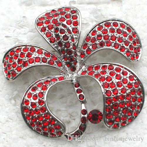 12pcs/lot Wholesale Crystal Rhinestone Brooch Bridal Wedding Party Flower Pin Brooches jewelry gift Valentine's day C931