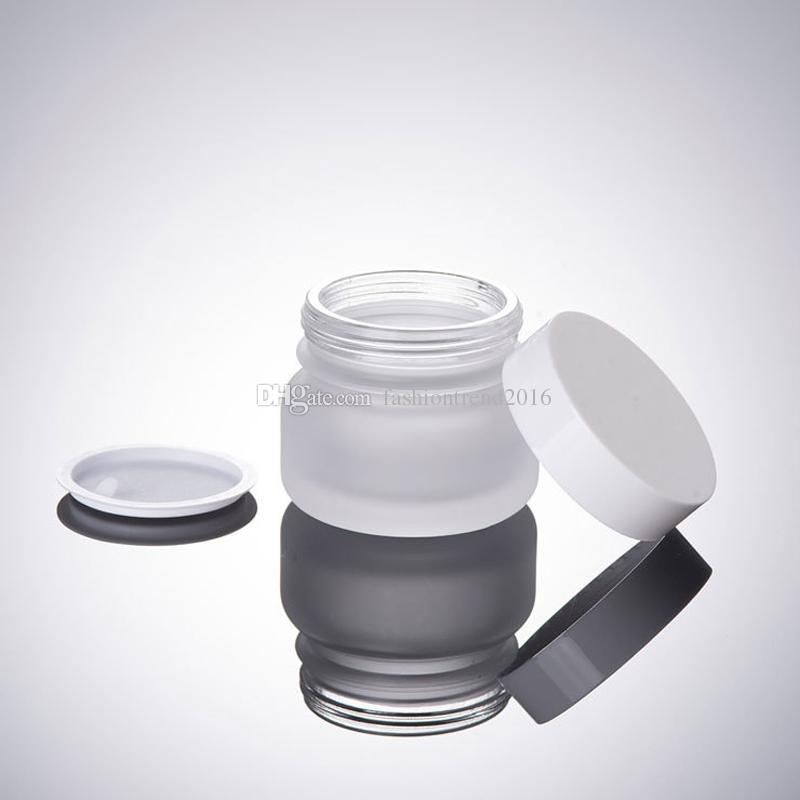 50G Milchglas Cremetiegel leere kosmetische Gesichtscreme Probe Gläser kleine kosmetische Pulver Container Großhandel kosmetische Verpackung Flasche