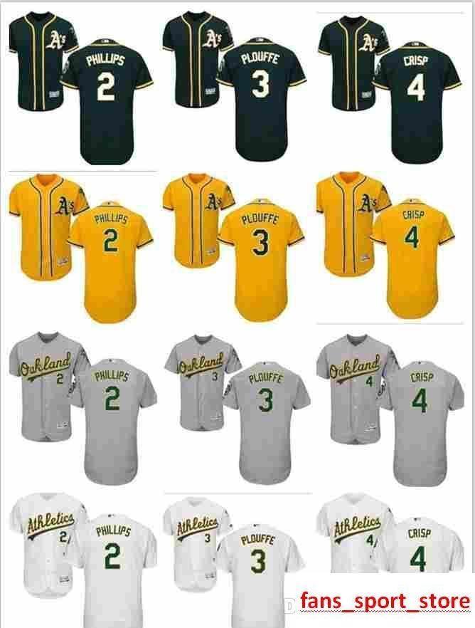 fa7744da 2019 custom Men's Women Youth Majestic Athletics Jersey #2 Tony Phillips 3  Trevor Plouffe 4 Coco Crisp Home Green Kids Baseball Jerseys