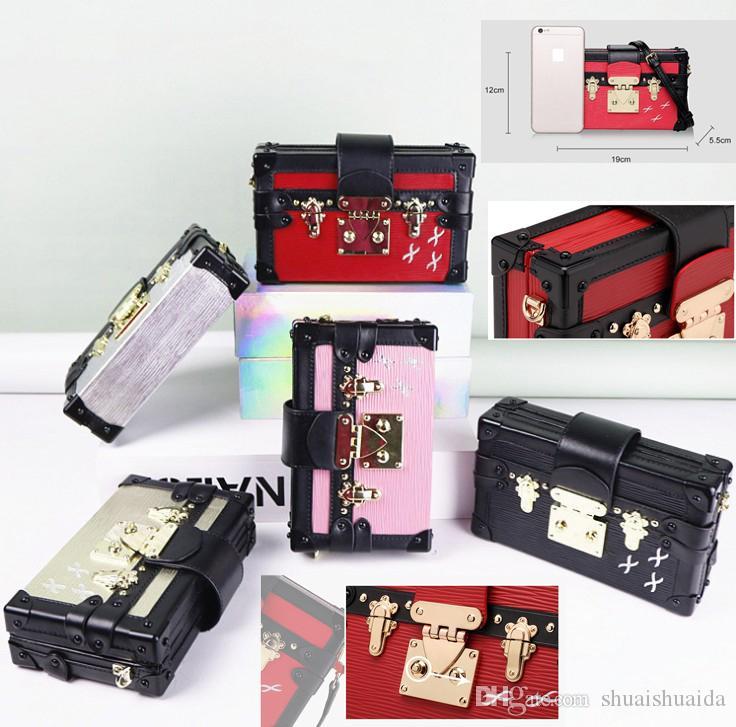 Сумка на плечо женщина сумка сумка леди телефона мини мобильный A1801 крест кожаный корпус повседневная коробка подлинная мода небольшие мешки сумки chqwi