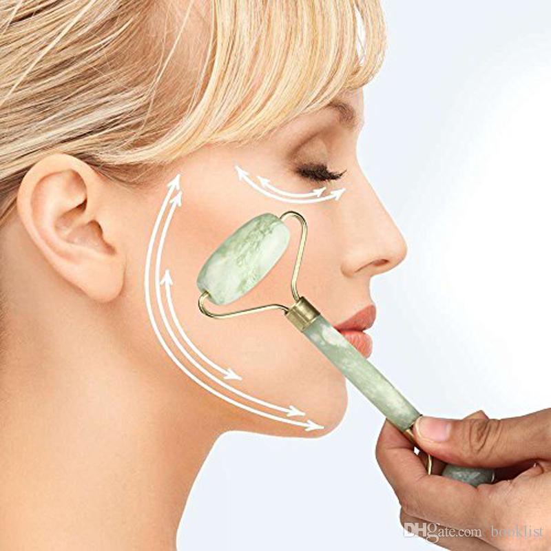 الصحة الطبيعية الوجه التجميل أداة تدليك اليشم الأسطوانة الوجه رقيقة مدلك الوجه الفقدان الوزن الجمال العناية أداة الأسطوانة