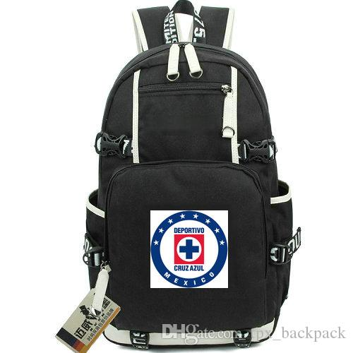 لا ماكينا ظهره كروز ازول اليوم حزمة كرة القدم نادي المدرسة حقيبة كرة القدم packsack محمول حقيبة الظهر الرياضة المدرسية خارج الباب daypack