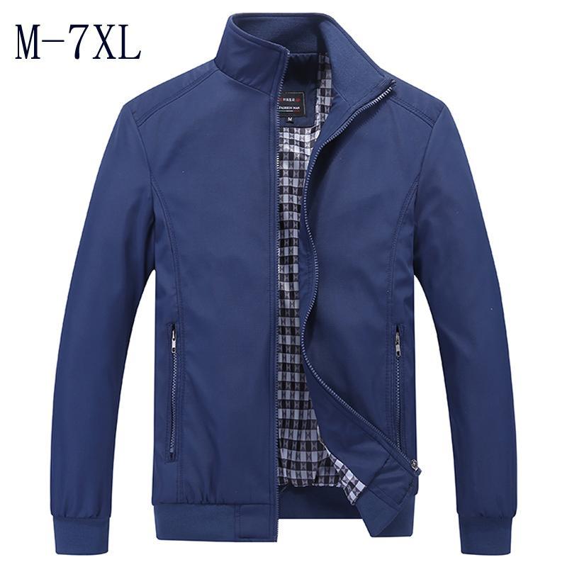 Novo 2018 Homens Jaqueta Moda Casual Solto Mens Jaqueta Sportswear Bomber Jacket Mens jaquetas e casacos Plus Size M-7XL S914