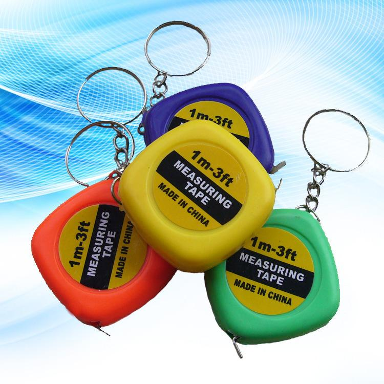 Small tape measure 1 meter soft tape measure portable mini key clasp hang small gift gift public tape measure in