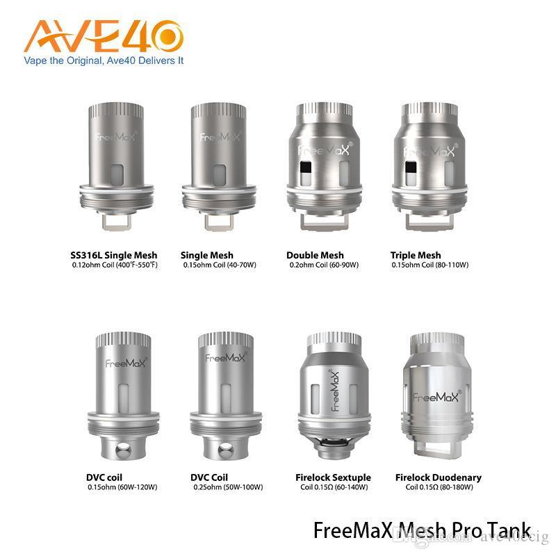100% originale Freemax Mesh Pro Bobina SS316L Doppia tripla singola bobina di ricambio per Freemax Mesh Pro Tank