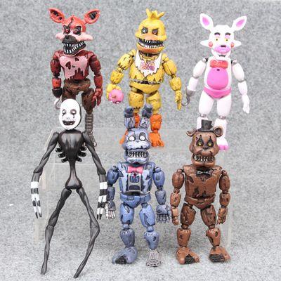 Gorąca Sprzedaż 6 Sztuk 17 CM Pięć Noc w Freddy's Filmy Figurki Ludzki Szkielet Bonnie The Bunny Foxy Pirate Fox Boże Narodzenie Prezenty T12