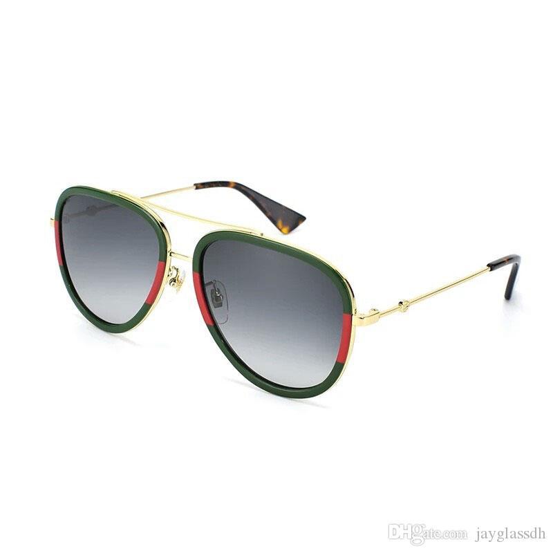 التصميم الكلاسيكي العلامة التجارية النظارات الشمسية النساء الرجال نوعية ممتازة المتضخم نظارات شمسية جديدة وصول الذهب الإطار النظارات Vinatge UV400