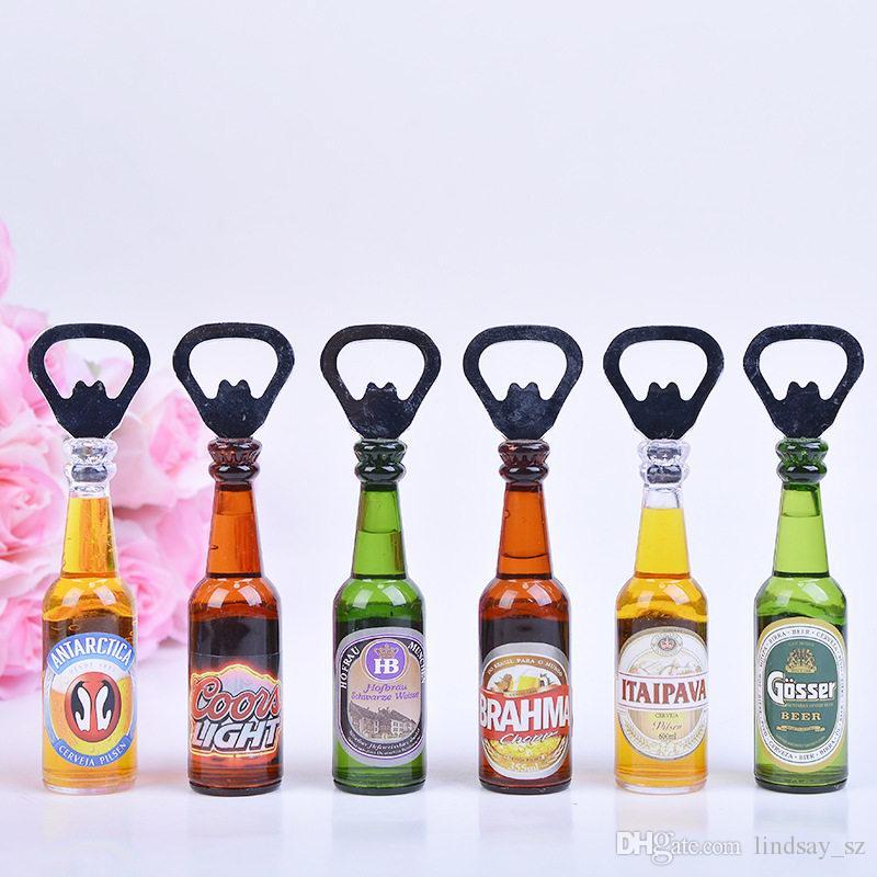 Personalidad creativa mini bar abridor de botellas de cerveza Abrebotellas Rev Botella para abrir decorativos Imanes de nevera Cocina