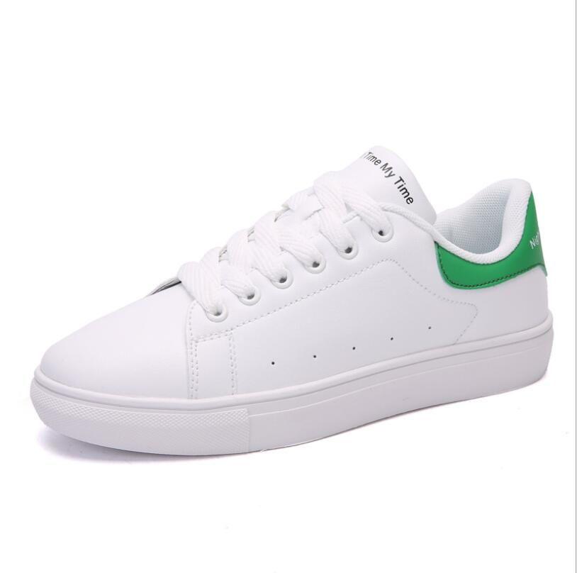 sin impuesto de venta donde puedo comprar zapatos elegantes Compre McQueen Pequeños Zapatos Blancos Ligeros De Moda Casual Deportivos  Blancos Zapatos Planos Transpirables es Tamaño 35 40 A $20.31 Del ...
