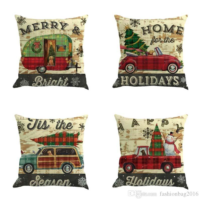 DHL Free Christmas Merry Christmas holidays home pillow case christmas decorations 45cm*45cm European Style Cushion covers/pillow covers