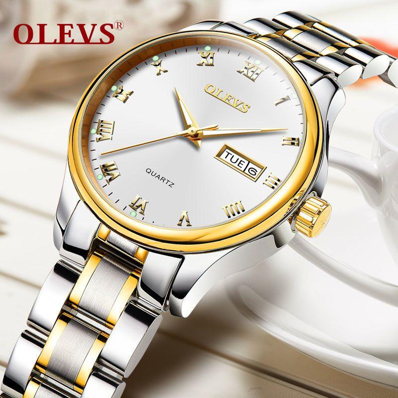 OLEVS Brand Rose Gold Women Watch Steel Strap Luxury Ladies Watch Creative Girl Quartz Wristwatch Clock Montre Relogio FemininoY1883104