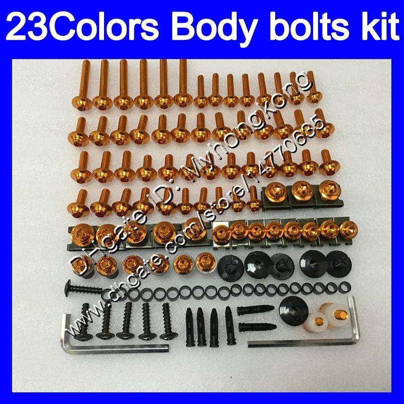 Fairing bolts full screw kit For KAWASAKI ZX250R 13 14 15 16 ZX 250R 2013 2014 2015 2016 13 14 Body Nuts screws nut bolt kit 25Colors