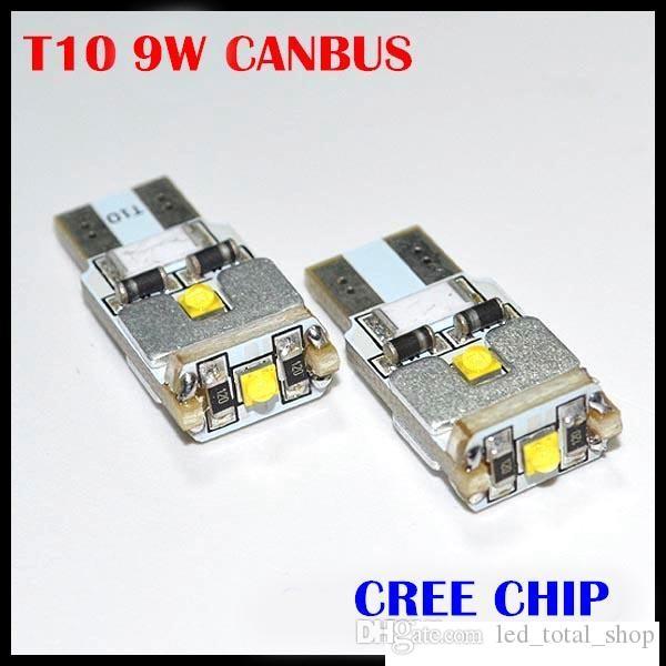2x T10 W5W 168 194 CANBUS нет ошибка CREE чип LED автомобилей Авто DRL замена клиренса свет парковки лампы лампы автомобиля источник света