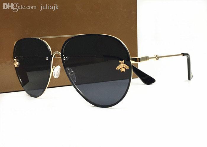 Itália New Abelhas Óculos de Sol Mulheres Tendência de Luxo Óculos de Sol Retro Moldura De Madeira Moda Designer Vintage Lunettes Acessórios com Caso