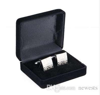 Высококачественные мужские Запонки Squre Лазерная Серебрение Свадьба Запонки 197a