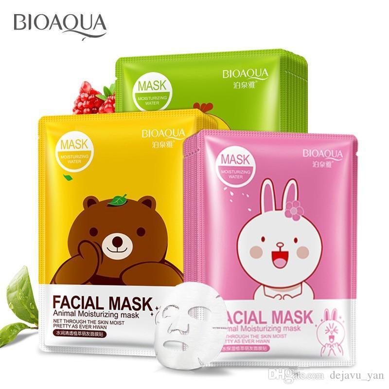 DHL 새로운 무료 Bioaqua 12 종류 스퀴즈 마스크 시트 보습 얼굴 피부 처리 오일 컨트롤 페이셜 마스크 껍질 피부 관리 필라테