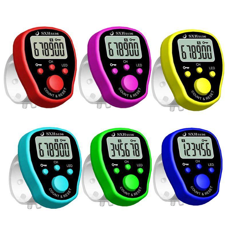 5 Kanal Parmak Sayacı LCD Elektronik Dijital Chanting Sayaçları Tally Sayaç